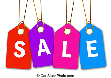 Sale icon with price tags