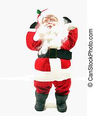 Santa Strikes a Pose