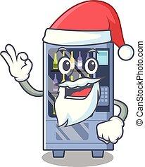 Santa wine vending machine mascot shaped character