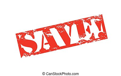 Rubber stamp with word save inside, vector illustration