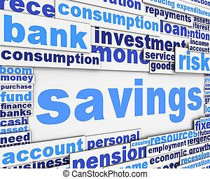 Savings slogan conceptual design