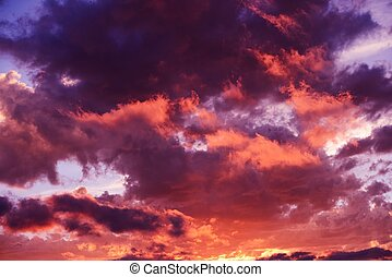Scenic Sunset Cloudscape