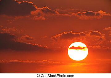 Scenic sunset
