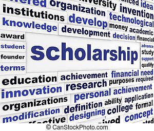 Scholarship conceptual message