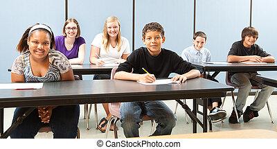 School Kids Diversity Banner