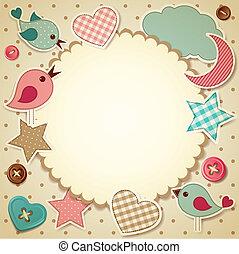 Vector illustration - scrapbook background, eps10