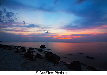 sea after sunset
