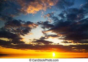 sea on sunset.