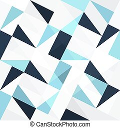 Seamless blue triangles abstract background