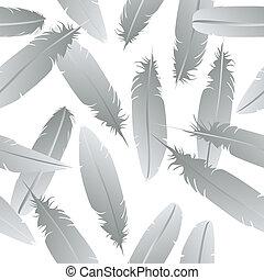 Seamless feathers pattern
