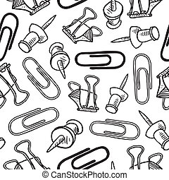 Seamless office supplies background