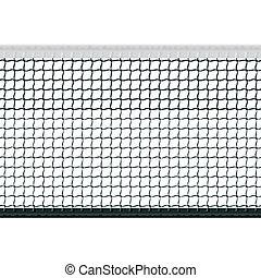 Seamless vector illustration of a tennis net