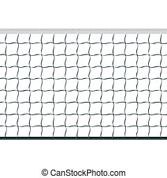 Seamless vector illustration of a volleyball net