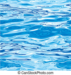 Seamless Blue Water Surface Pattern, editable vector illustration