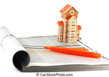 Search real-estate with help of the catalog. Shallow DOF.