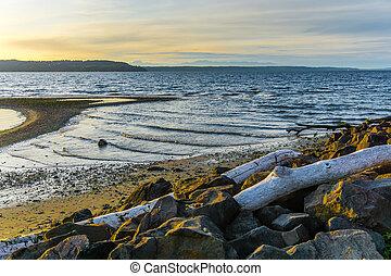 Seashore Sunset Landscape