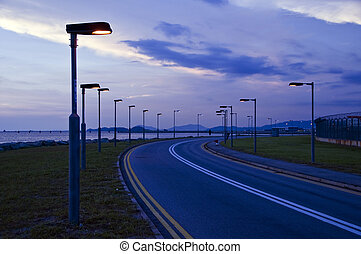 Seaside Sunset Road