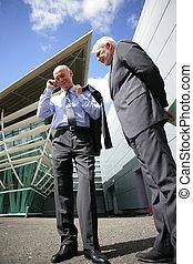 Senior businessmen outdoors