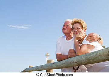 senior citizens outdoors