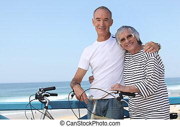 senior couple on a summer vacation