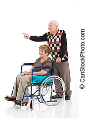 senior man and handicapped wife