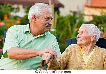 Senior People in Nursing Home