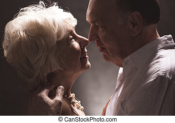 Senior wife and husband