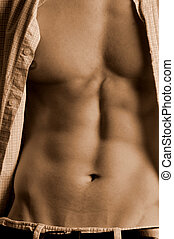sepia male abs