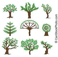 Set design tree. Vector