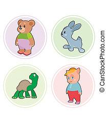 Set of a animals