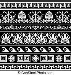 Set of antique greek borders