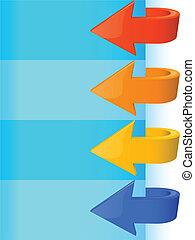 elements of design multi-coloured arrows