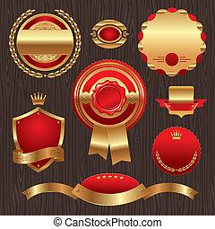 Set of golden quality labels and em