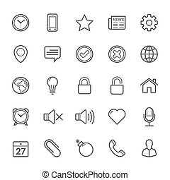 Set of Outline stroke General icons