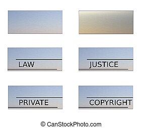 Set of Signboards Concept