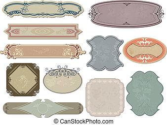 Set vintage labels for your design. Vector