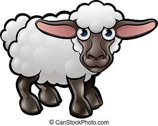 A sheep farm animals cartoon character