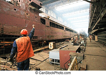 Building the multi-purpose dry cargo sea-river going vessels.