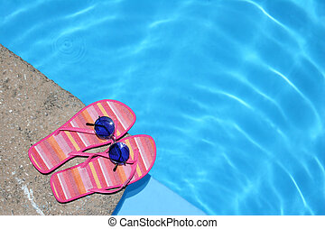 Shoes by Pool