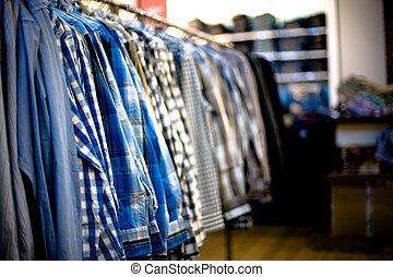 modern cloth shop interior