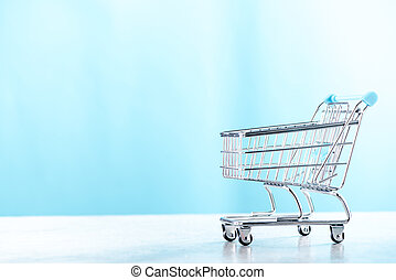 Shopping cart, copy space