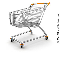 Shopping Cart. Image with clipping path
