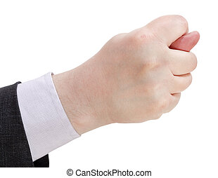 side view of fig sign close up - hand gesture
