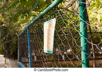 sign on the fence