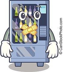 Silent wine vending machine mascot shaped character