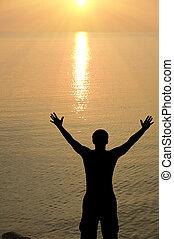 man on the sunset