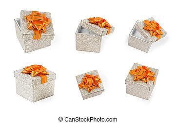 silver present boxes