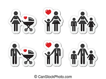 Single parenting- mother with child, baby, father with child, baby