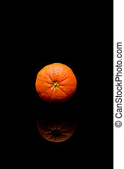 orange isolated on black background