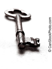 Close-up of antique skeleton key